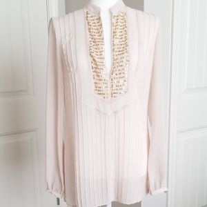 FINAL REDUCTION!! SAVE$$$ Top w/pleats/gold sequin